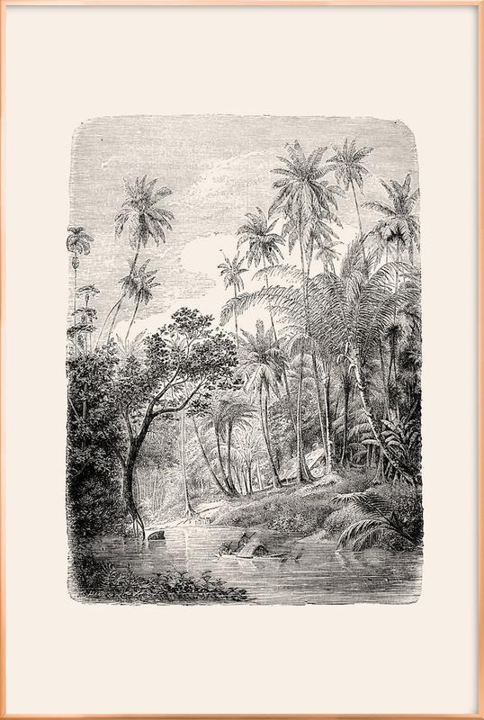 Sri Lanka Poster in Aluminium Frame