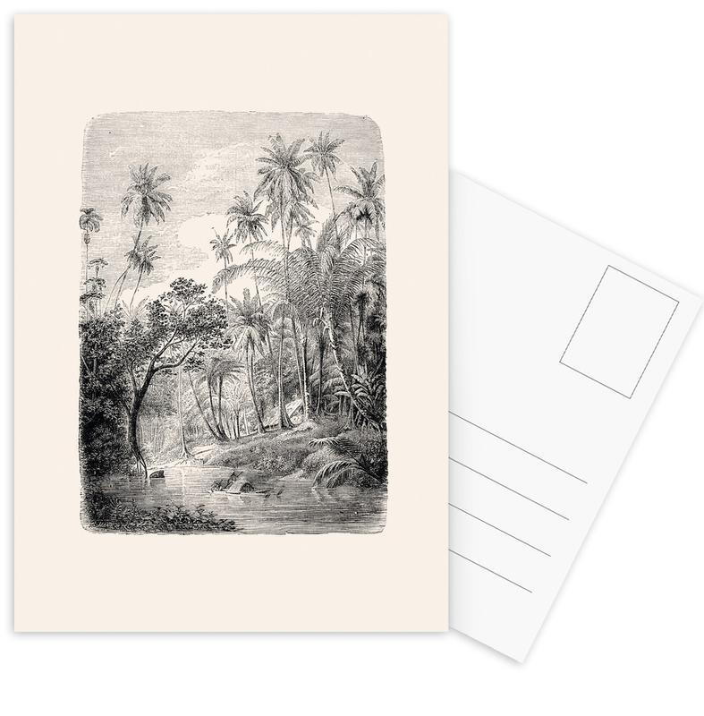 Palmen, Bäume, Wälder, Sri Lanka -Postkartenset