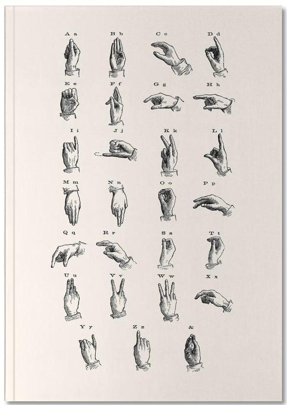 Vintage Sign Language Chart Notebook