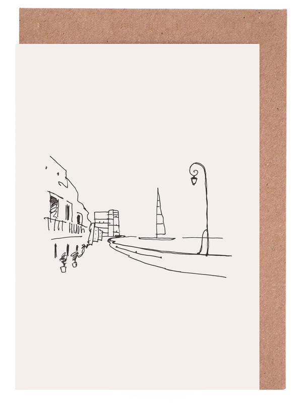 Monaco -Grußkarten-Set