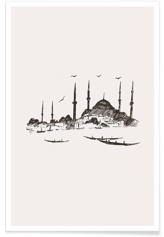 Seværdigheder & landmærker, Istanbul, Rejser, Istanbul Plakat