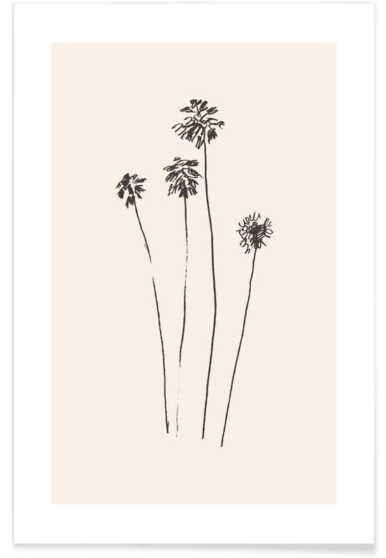 Palmiers, Silhouettes de palmiers affiche