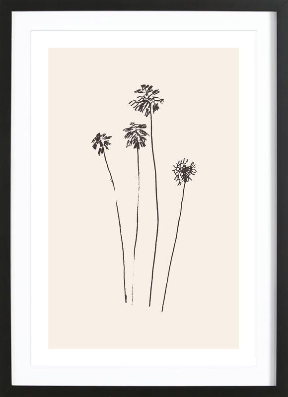 Palm Silhouettes ingelijste print
