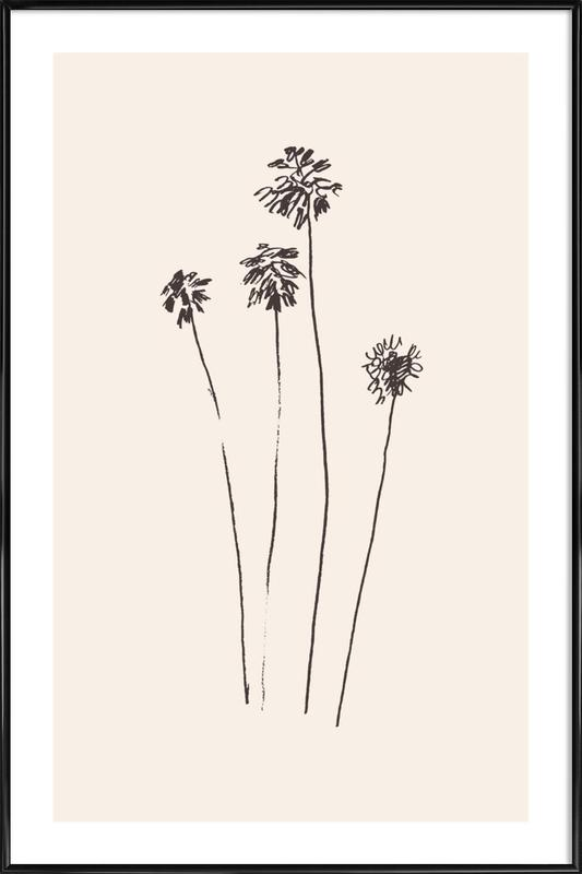 Palm Silhouettes Framed Poster