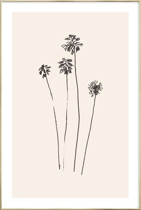 Palm Silhouettes Poster in Aluminium Frame