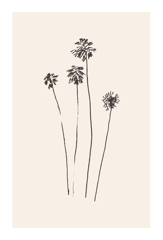 Palm Silhouettes Aluminium Print