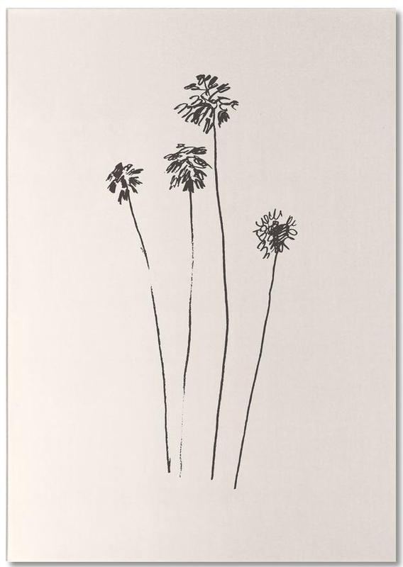 Palmen, Palm Silhouettes -Notizblock
