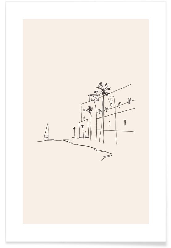 Strande, Rejser, Monaco II Plakat