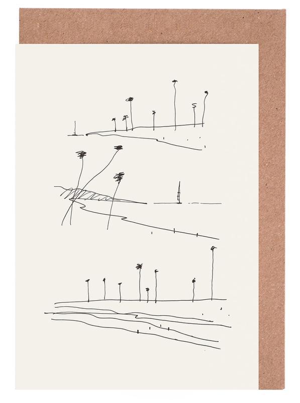 Seaside -Grußkarten-Set