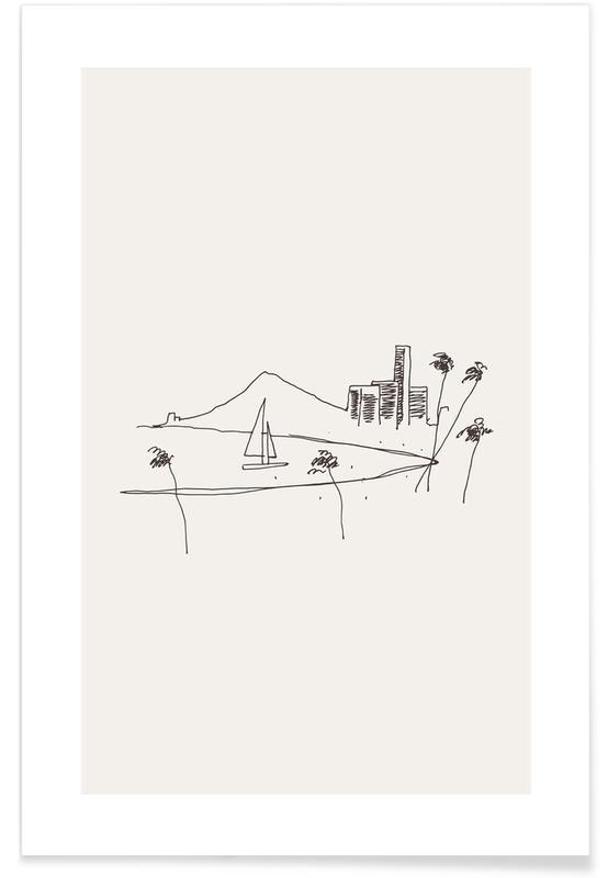 Strande, Rejser, Hawaii Plakat