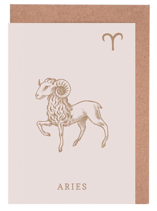 Aries -Grußkarten-Set