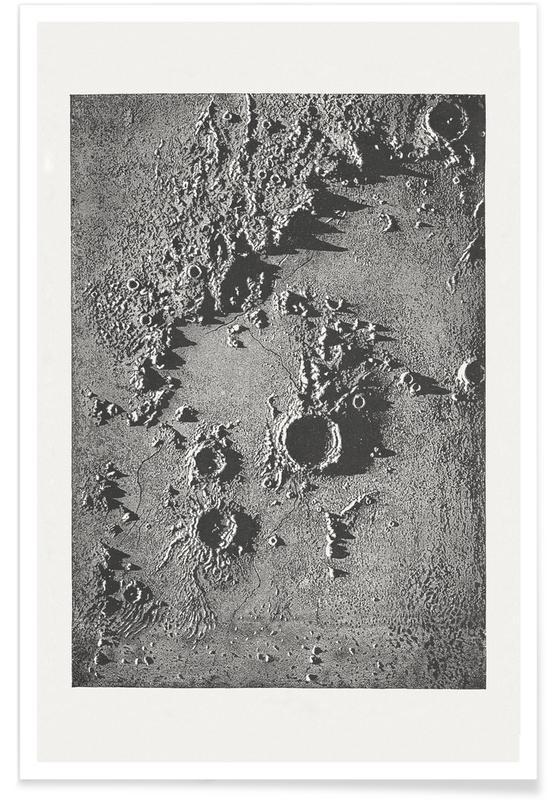 Lune, Cratère lunaire affiche