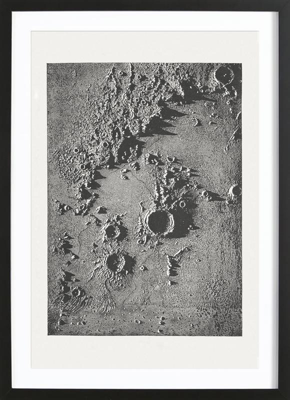 Moon Crater II Poster i träram