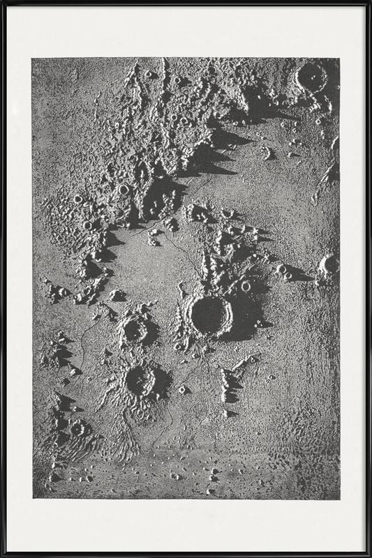Moon Crater II Poster i standardram
