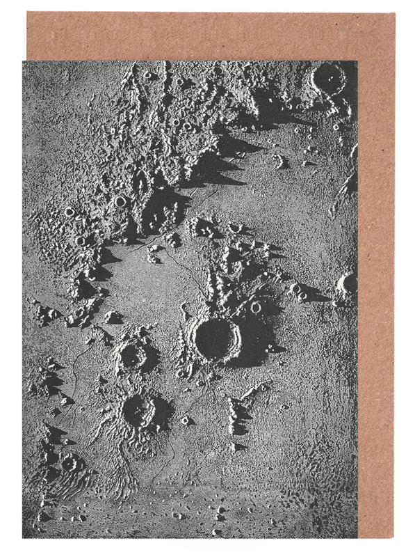 Moon Crater II -Grußkarten-Set