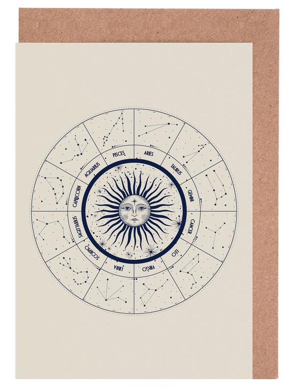 Astrology Chart Greeting Card Set