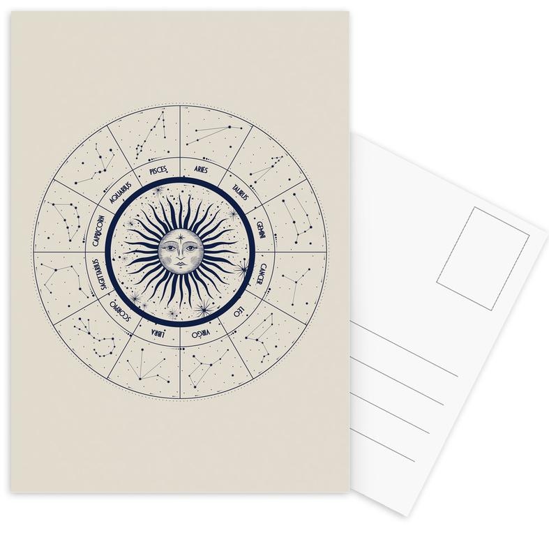 Astrology Chart Postcard Set