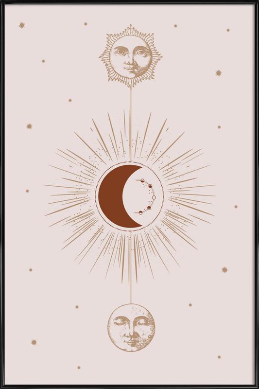 Moon and Sun Poster i standardram