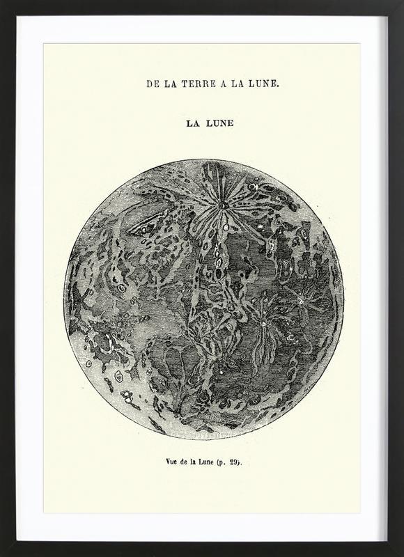 La Lune Poster i träram