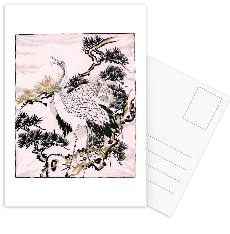 Japanese Cranes Postcard Set