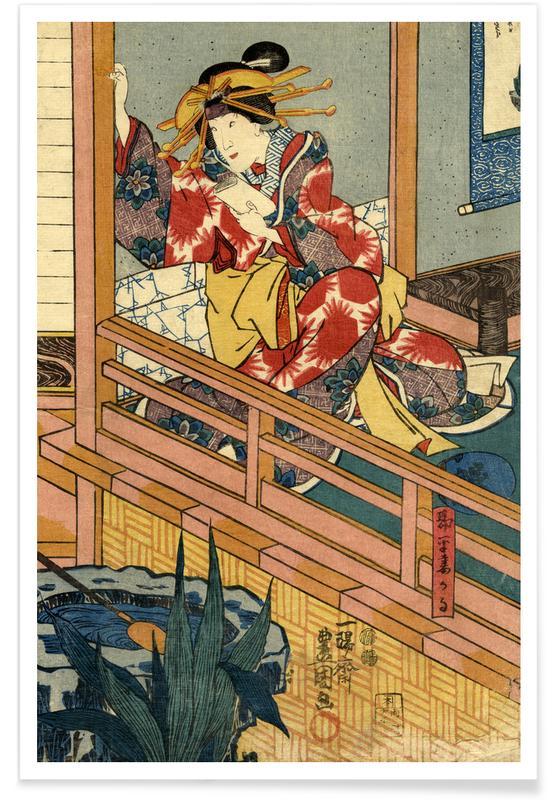 , Woman in Kimono póster