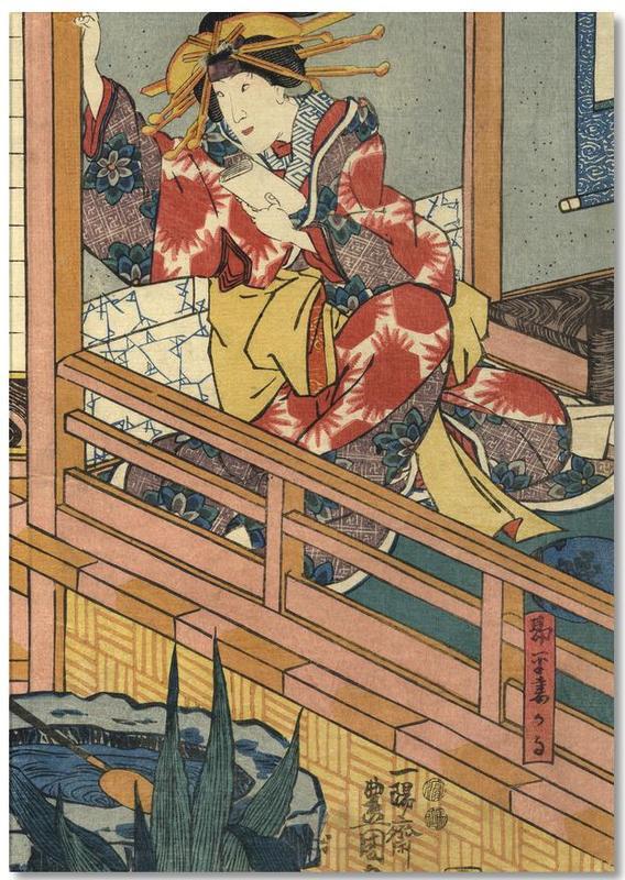, Woman in Kimono Notebook