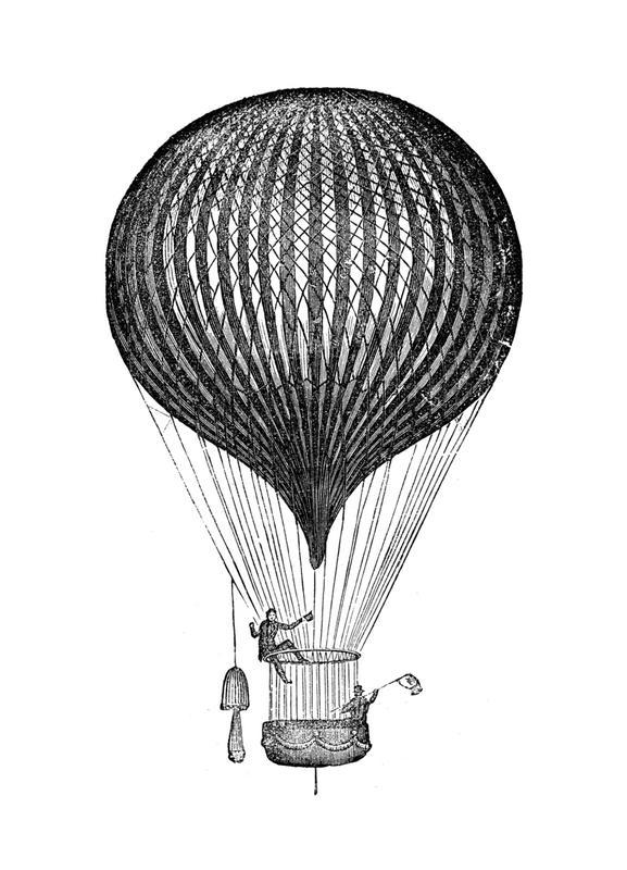 Air Balloon -Leinwandbild