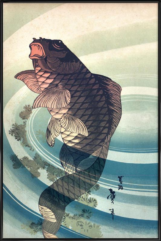 Japanese Koi Poster i standardram