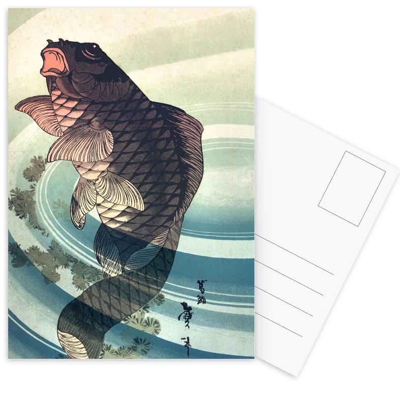 Japanese Koi -Postkartenset
