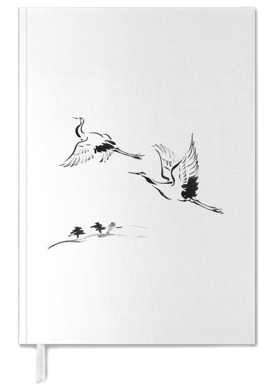 Zwart en wit, Cranes in Ink agenda