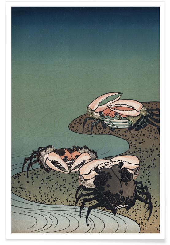 , Saltwater Crabs póster