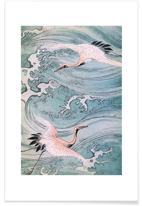 Storks Over Water affiche