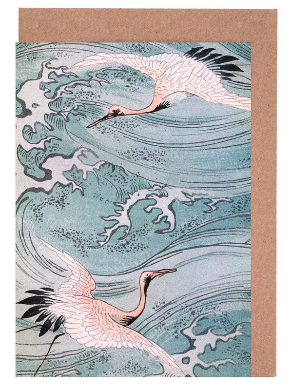 Storks Over Water Greeting Card Set