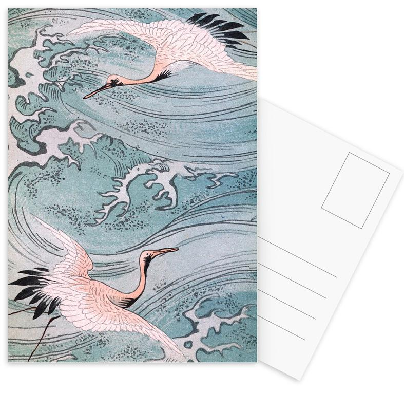 Storks Over Water Postcard Set