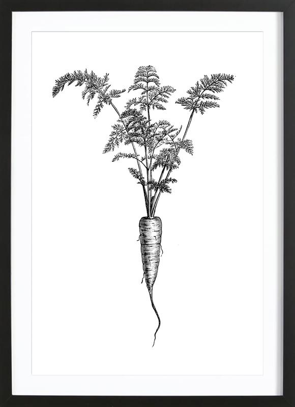 Carrot Poster i träram
