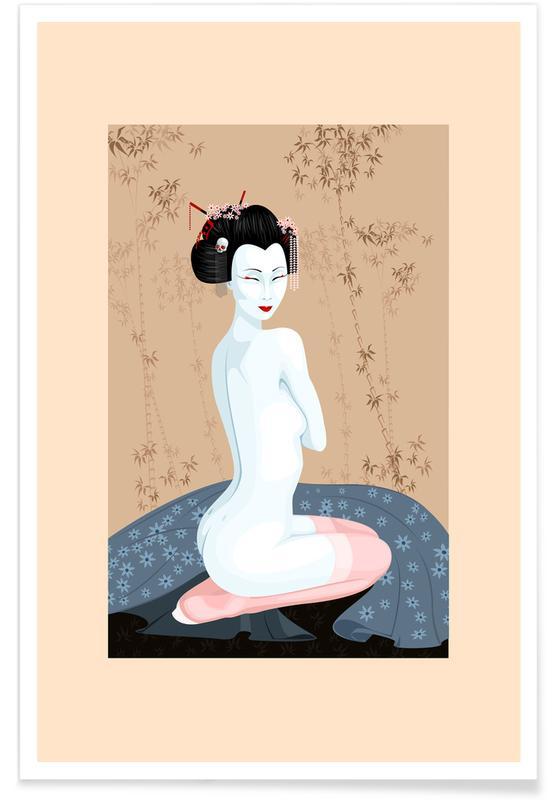 , Geisha Nude póster