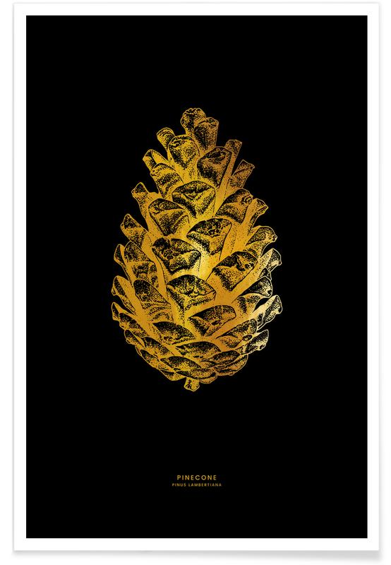 Gold Pinecone Poster