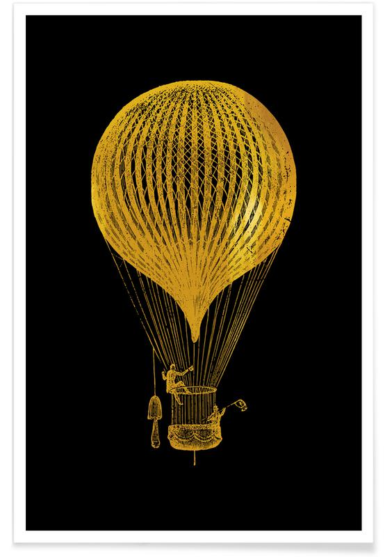 Gold Air Balloon Poster