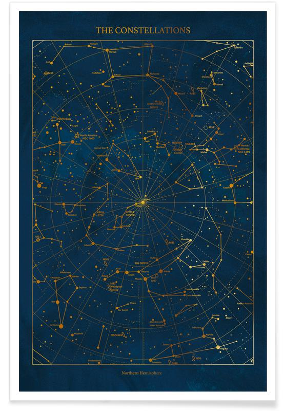 Gold Constellations Poster
