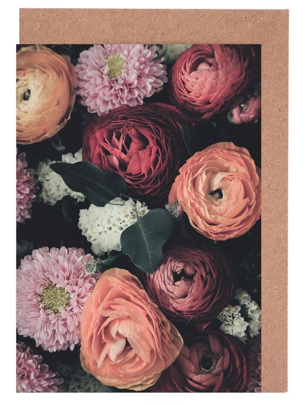 Vintage Bouquet -Grußkarten-Set