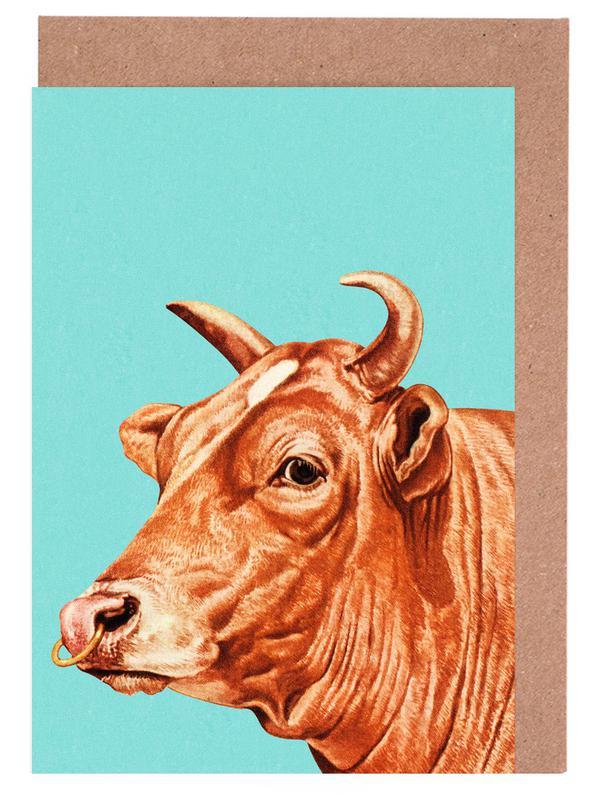Kühe, Deja-Moo III -Grußkarten-Set