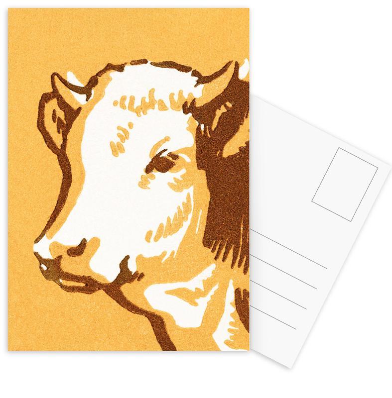 Kühe, Caramel Cow -Postkartenset