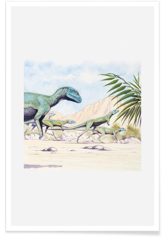 Dinosaurs, Raptors Poster