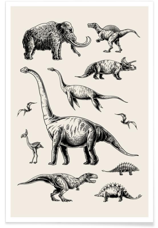 Dinosaurs, Prehistoric Beasts Poster