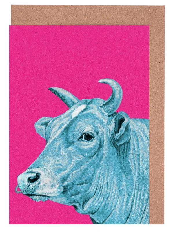 Kühe, Deja-Moo I -Grußkarten-Set