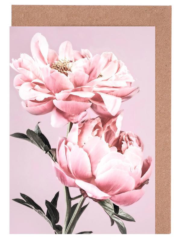 Pink Peonies -Grußkarten-Set