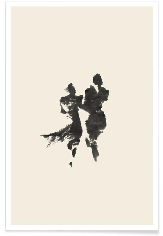 Schwarz & Weiß, Japanisch inspiriert, Paare, Together -Poster