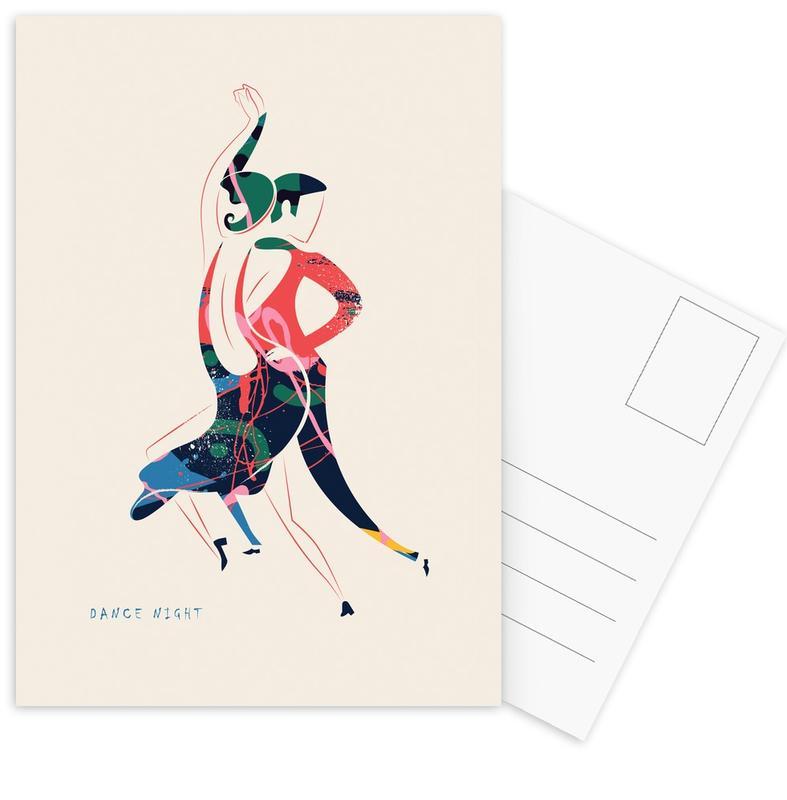 Danse, Dance Night cartes postales