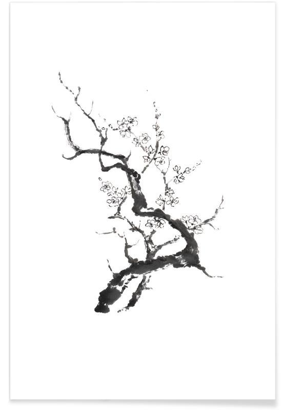 Abstrakte Landschaften, Japanisch inspiriert, Wild Irises II -Poster