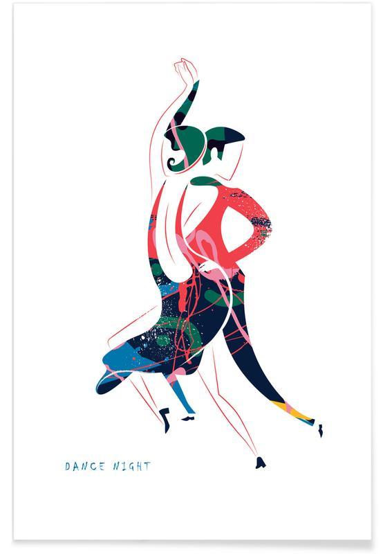 Danse, Couples, Madrid, Dance Night II affiche